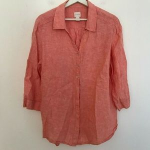Chico's Size 3 Long Sleeve Button Up Blouse Women